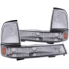 ANZO 1998-2000 Ford Ranger Euro Parking Lights Chrome w/ Amber Reflector