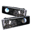 Spyder Chevy C/K Series 1500 88-99Projector Headlights Blk High 9005 (Not Included) PRO-YD-CCK88-BK