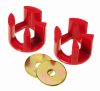 Prothane 00+ Dodge Neon Motor Mount Insert Kit - Street - Red