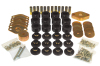 Prothane 07-11 Jeep Wrangler JK 4DR Body Mount Kit - Black