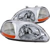ANZO 1996-1998 Honda Civic Crystal Headlights Chrome