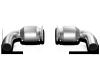 Akrapovic 10-13 Porsche 911 Turbo/Turbo S (997) Link Pipe Set w/ Cat (Titanium)