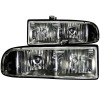 ANZO 1998-2005 Chevrolet S-10 Crystal Headlights Black