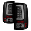 Spyder 07-13 GMC Sierra 1500 V2 Light Bar LED Tail Lights - Blk Smoke (ALT-YD-GS07V2-LBLED-BSM)