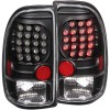 ANZO 1997-2004 Dodge Dakota LED Taillights Black