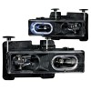 ANZO 1988-1998 Chevrolet C1500 Crystal Headlights Black w/ Halo