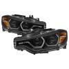 Spyder 12-14 BMW F30 3 Series 4DR Projector Headlights - LED DRL - Black (PRO-YD-BMWF3012-DRL-BK)