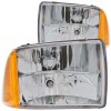 ANZO 1995-1997 Chevrolet Blazer Crystal Headlights Chrome 1pc