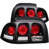 ANZO 1994-1998 Ford Mustang Taillights Black