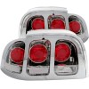 ANZO 1994-1998 Ford Mustang Taillights Chrome