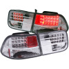 ANZO 1996-2000 Honda Civic LED Taillights Chrome G3