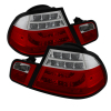 Spyder BMW E46 3-Series 04-06 2Dr Light Bar Style LED Tail Lights Red Clear ALT-YD-BE4604-LBLED-RC