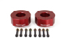 ReadyLift Suspension 07-15 Toyota Tundra 2.4in T6 Billet Aluminum Leveling Kit Anodized - Red