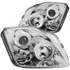 ANZO 1997-2001 Honda Prelude Projector Headlights w/ Halo Chrome w/ LED